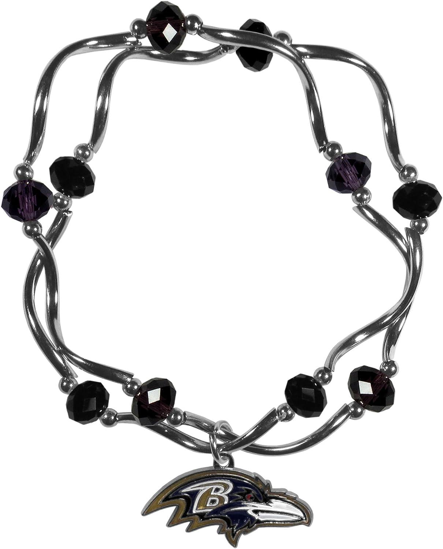 Siskiyou Womens Los Angeles Rams Crystal Bead Bracelet