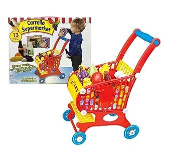 632306 Carrito de la compra para supermercado con 13 accesorios 53x20x36 cm: Amazon.es: Juguetes y juegos