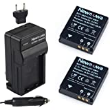 Newmowa IA-BH125C Battery (2-Pack) and Charger kit for Samsung IA-BH125C, Ricoh DB-65, Sigma BP-41, and Pentax D-Li106 Batteries Samsung HMX-R10 Ricoh , GR , GR-IV , G700 , GR-III , GR Digital Sigma , DP3m , DP2 Merrill Pentax , MX-1 , X90, same as Ricoh DB-65 battery