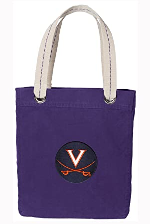 bb3a16750da3 UVA Rich Purple Cotton Tote Bag University of Virginia Shopping - Travel Beach  Bags  Amazon.co.uk  Sports   Outdoors