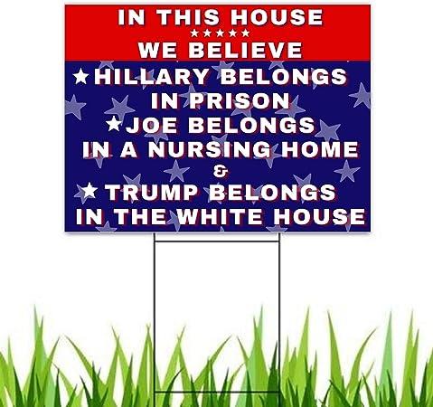 Pesky Patriot Anti Biden Outdoor Yard Sign | Joe Biden Nursing Home Funny 18x12 Double-Sided Sign for Lawn and Garden