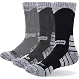 YUEDGE 3P Men Wicking Outdoor Multi Performance Hiking Socks