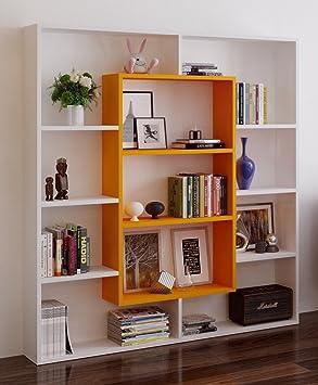 venus librera de saln blanco naranja libreras de oficina estantera o librera