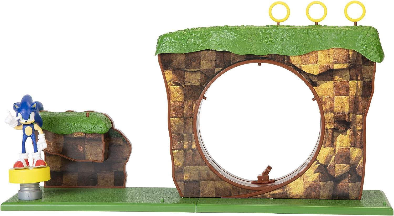 Sonic The Hedgehog Mini Figure Green Gem Sonic Blue OG Green Hill Zone UK Seller