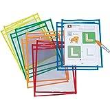 9 x 12 Chenille Kraft Co 9897 Neon 5 Piece Creativity Street Dry Erase Pockets