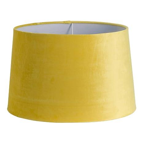 Pantalla para lámpara de techo de terciopelo amarillo ...
