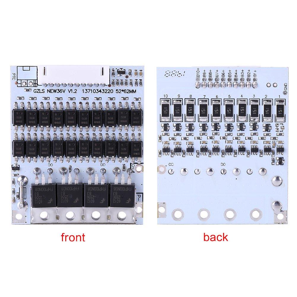Akozon BMS PCB Board Module 10S 36 V 40 A Li-Ion Protection de batterie BMS PCB pour batteries de type Ternary Kobaltary avec Balance