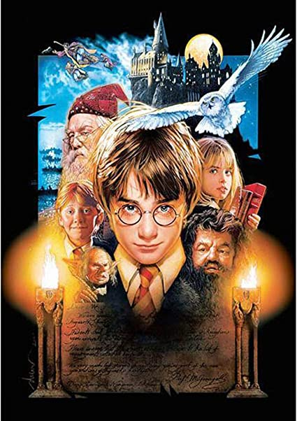 Harry Potter 40x50cm Leezeshaw 5D DIY Diamond Painting by Number Kits Fameless Rhinestone Embroidery Paintings Pictures for Home Decor