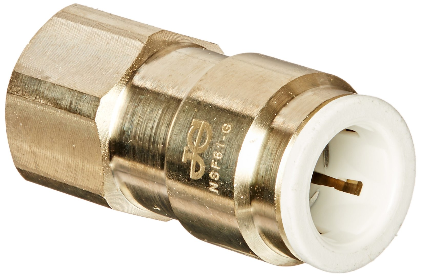 John Guest MI4512F4SLF Female Flare Connector, 3/8'' OD x 1/4 (Pack of 10)