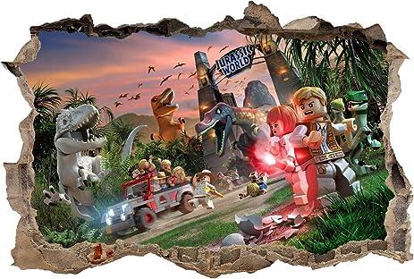 Amazoncom Jurassic World Lego Smashed Wall Decal Removable Wall - Jurassic world wall decals