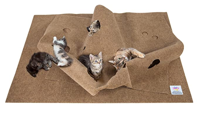SnugglyCat The Ripple Rug - Cat Activity Play Mat - Fun Interactive Play - Training - Scratching - Bed Mat
