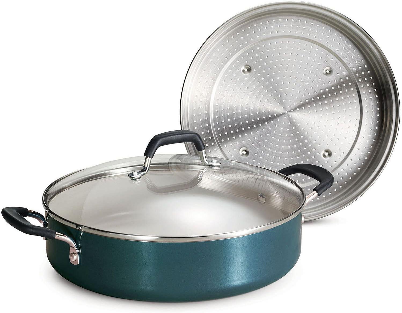 Tramontina Nonstick Everyday Pan, 5.5 qt. - Green