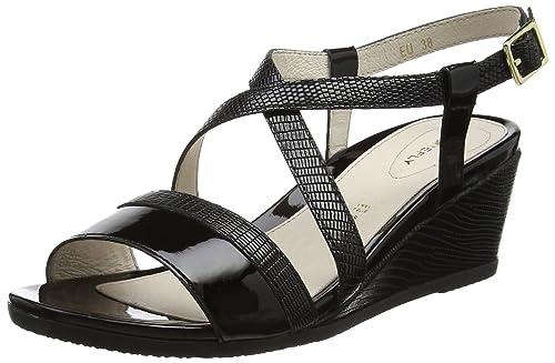 Sweet III 9 Goat S, Zapatos con Tacon y Correa de Tobillo para Mujer, Negro (Black 000), 40 EU Stonefly