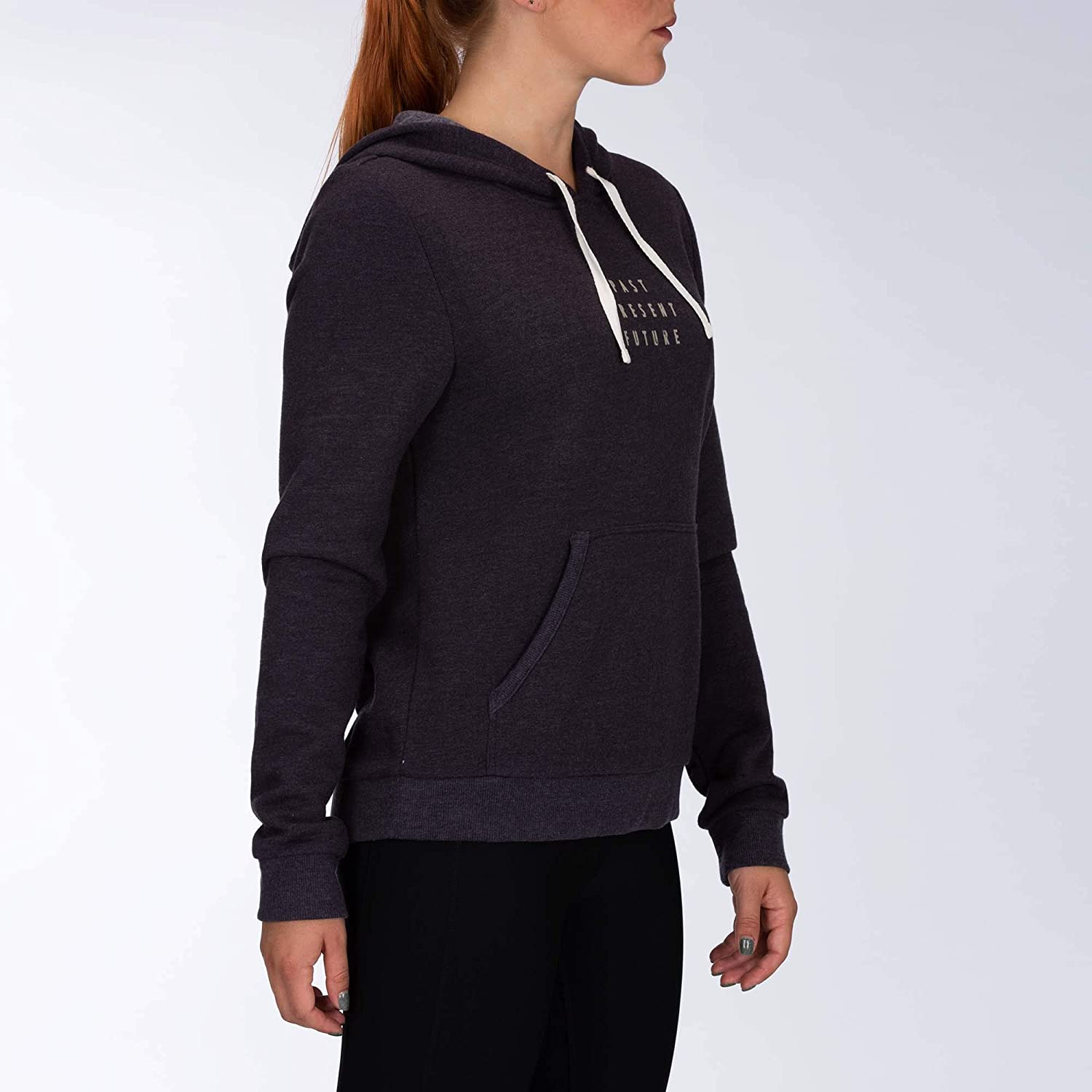 Hurley Damen Hidden Futures Perfect Women's Fleece Hoodie Sweatshirt Ölgrau