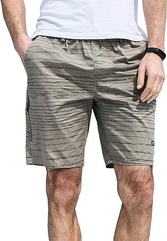 KTWOLEN - Pantalones cortos de verano para hombre, ligeros ...