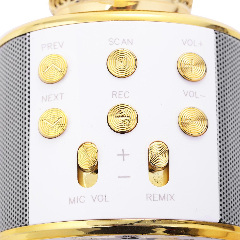 Enregistrement de Musique Haut-Parleur de Micro Microphone KTV Lecteur de Telephone Globalflashdeal Karaoke sans Fil Bluetooth de Poche Microphone