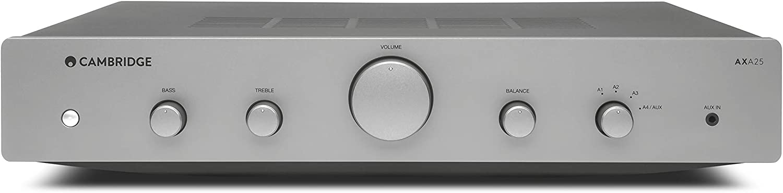 Cambridge Audio AXA25 25 Watt 2-Channel Integrated Stereo Amplifier | 3.5mm Input, USB Input
