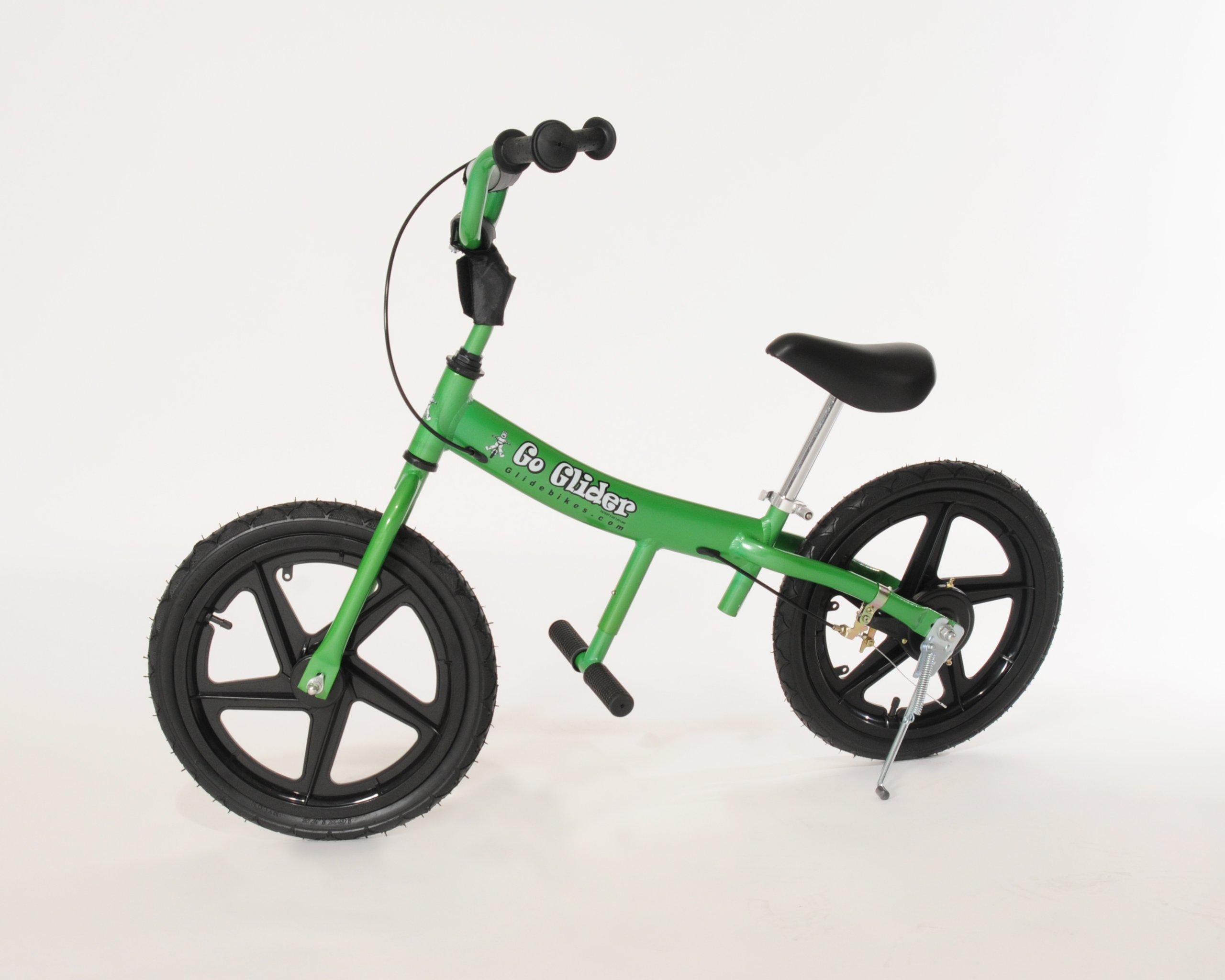 Glide Bikes Kid's Go Glider Balance Bike, Green, 16-Inch by Glide Bikes (Image #1)