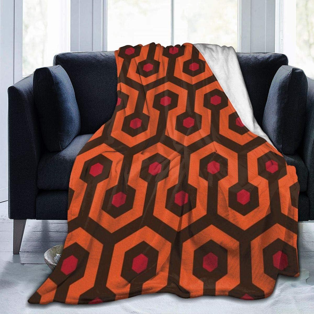Overlook Hotel Carpet Flannel Fleece Throw Blanket, Soft Warm Cozy Lightweight Kids Toddler Pet Blanket for Sofa Bed Office Adult's Shoulder & Lap, 50x40 Inches