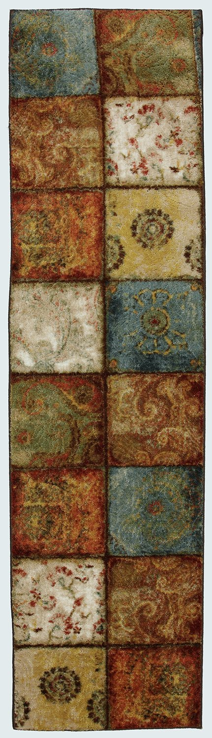 Mohawk Home Free Flow Artifact Panel Multi Rug, 2' x 5'