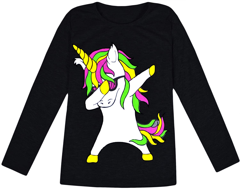 jolly rascals Girls Unicorn Long Sleeve Top