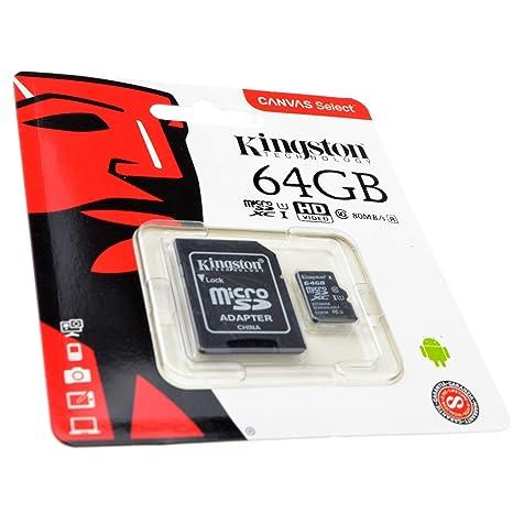 Kingston Class 10 Micro SD Almacenamiento Móvil Teléfono Memoria Tarjeta U1 64GB