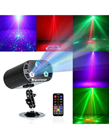 Party Lights DJ Disco Light RGB 3 Lens 36 Patterns Projector GOOLIGHT Mini LED Strobe Sound