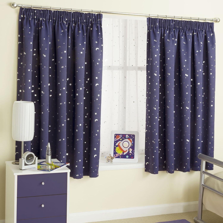 Ians Emporium Moonlight Pair Of 168x183cm Blockout Curtains Navy Amazon Co Uk Kitchen Home