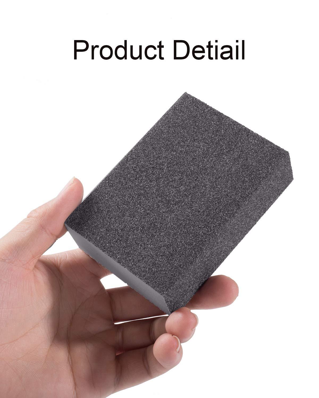 Sanding Sponge 8 PCS 60//80//120//220 Grit Wet Sanding Sponge 4 x 2.8 x 1 Inch Sand Sponge