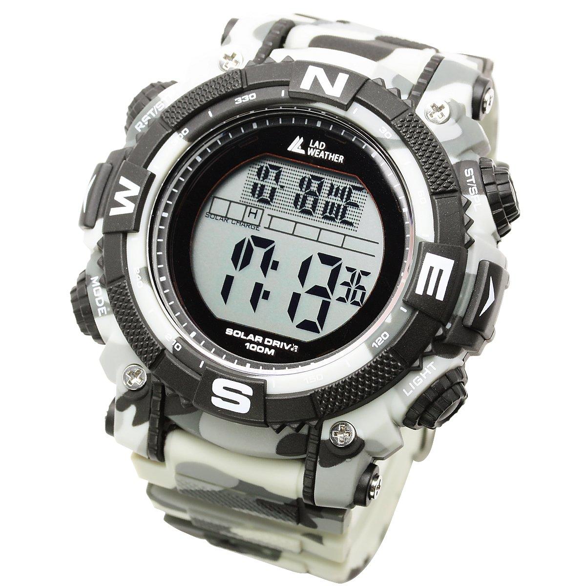 [Lad Weather] Reloj Digital Solar con impresión camuflaje militar resistente al agua hasta 100metros