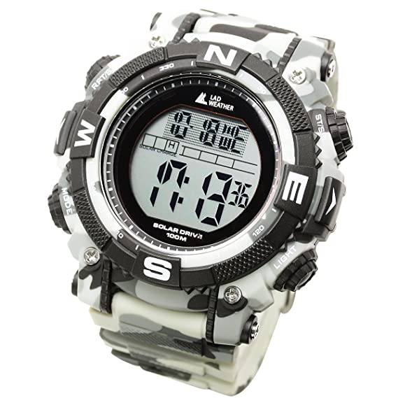 [LAD WEATHER] Reloj digital solar Militar Estilo camuflaje Sumergible 100 metros: Amazon.es: Relojes