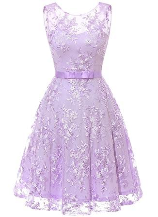 62b1c4121c8cfb MUADRESS 6002 Women Wedding Party Dress Sleeveless Lace Embroidery Lavender  XS