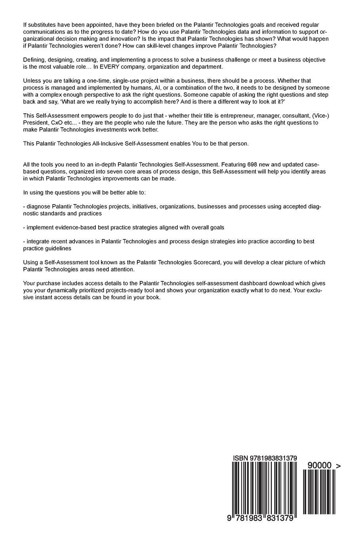 Palantir Technologies: Professional Dashboard: Gerardus Blokdyk