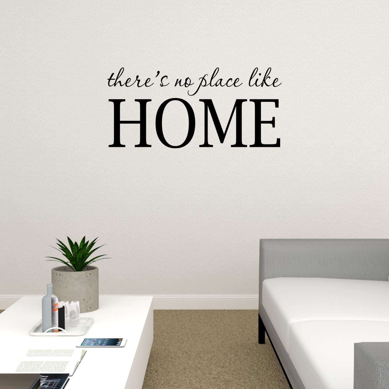 Basicor There's No Place Like Home Wall Decal Wizard of Oz Quote Wall Sticker Decor Y29