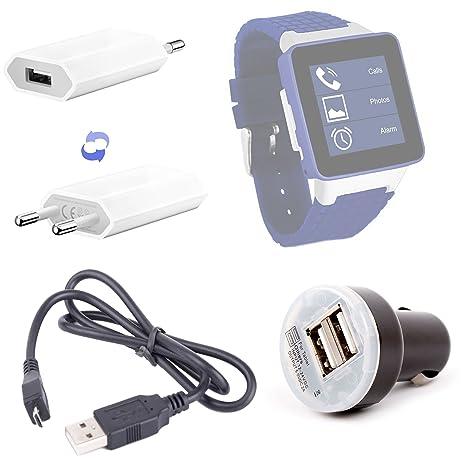 DURAGADGET Pack/Kit de Charge 3 en 1 Rapide et synchronisation Micro USB pour Montre