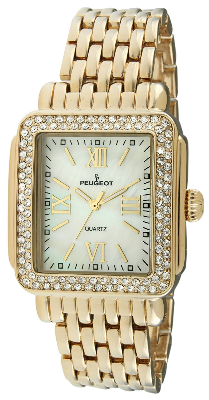 Crystal Bezel Dress Peugeot Rectangle Bracelet Watch Deco TlKc5F1Ju3