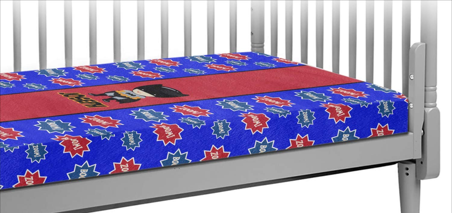 Superhero Crib Fitted Sheet (Personalized)