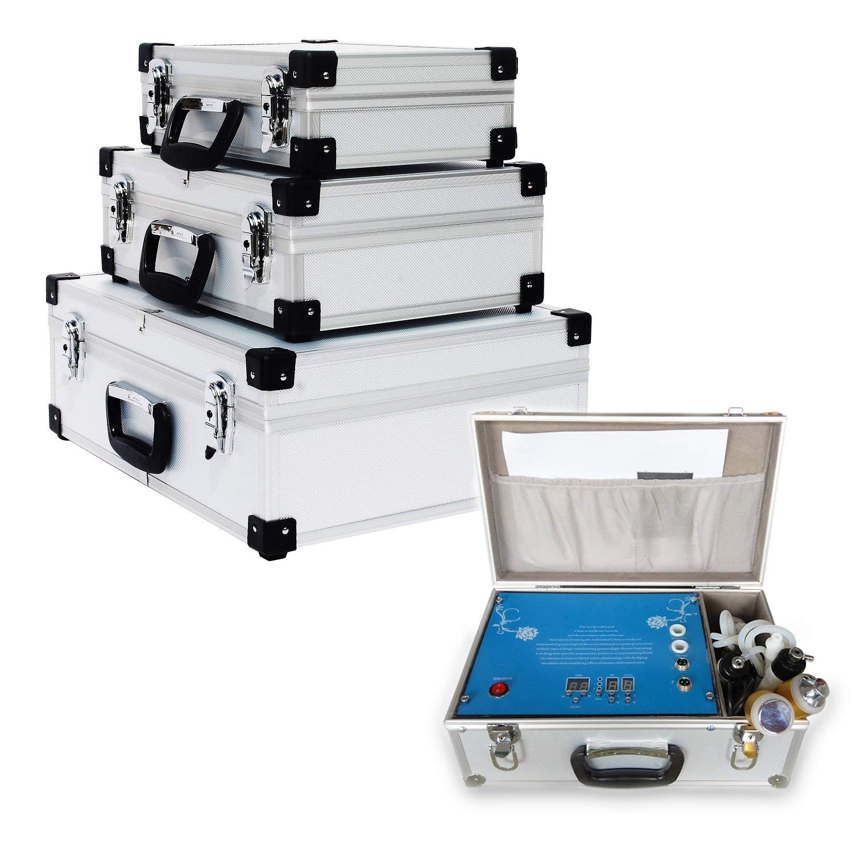 HENGMEI set de 3 caja de herramientas caja de aluminio caja de herramientas peque/ña caja de aluminio caja de transporte plata peque/ña