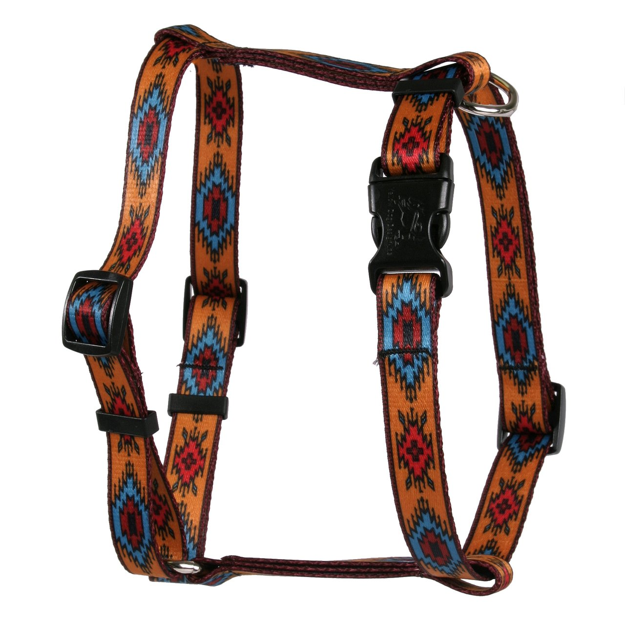Yellow Dog Design Indian Spirit Orange Roman Style H Dog Harness, Large