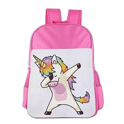 Hip Hop Unicorn Rainbow School Backpack Children Shoulder Daypack Kid Lunch Tote Bags Pink