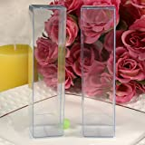 PVC Clear Plastic Packaging Boxes Jewelry Wedding Party Favor Candy Pack Box (50, 2.3x2.3x7cm(0.9''x0.9''x2.76''))