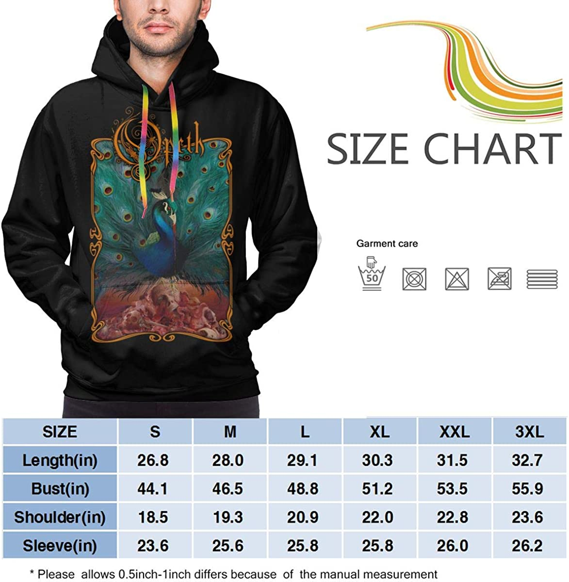 Opeth Classic 3D Printed Hip Hop Pullover Mans Hooded Sweatshirt