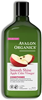 product image for Avalon Organics Conditioner, Smooth Shine Apple Cider Vinegar, 11 Oz (Pack of 6)