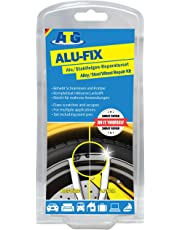 ATG ALU-FIX Alloy Wheel Repair Kit - Special Filler for Alloy Wheels & Steel Wheels to Fix Surface Damage - including Silver Aluminium Metallic Paint Pen - DIY Smart Repair - 13 pieces