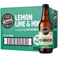 Remedy Organic Kombucha Lemon Lime Mint, 330 ml (Pack of 12)