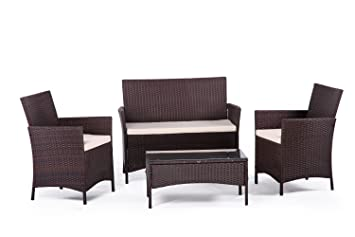 Soleil Jardin Lamai - Set de mesa y sillones para 4 personas ...
