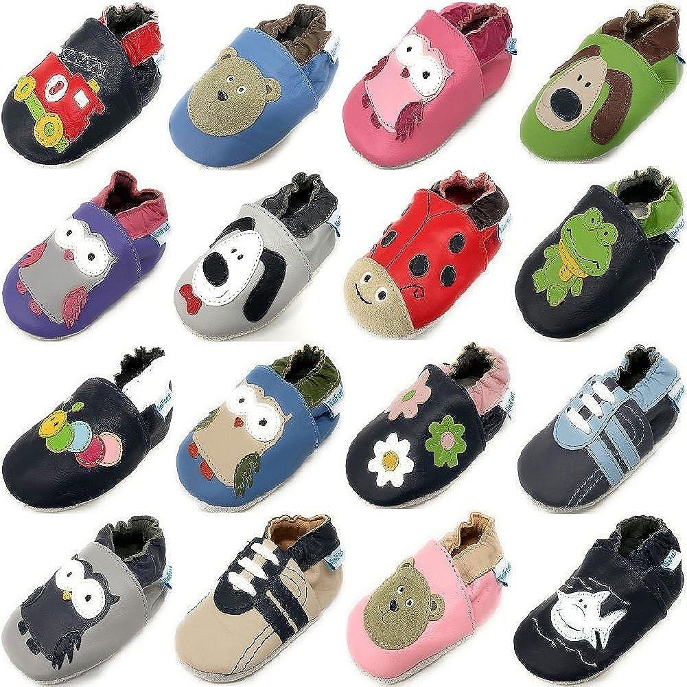 MiniFeet, Chaussures Bébé en Cuir Souple - Chaussons Bébé - Chaussures Premiers...