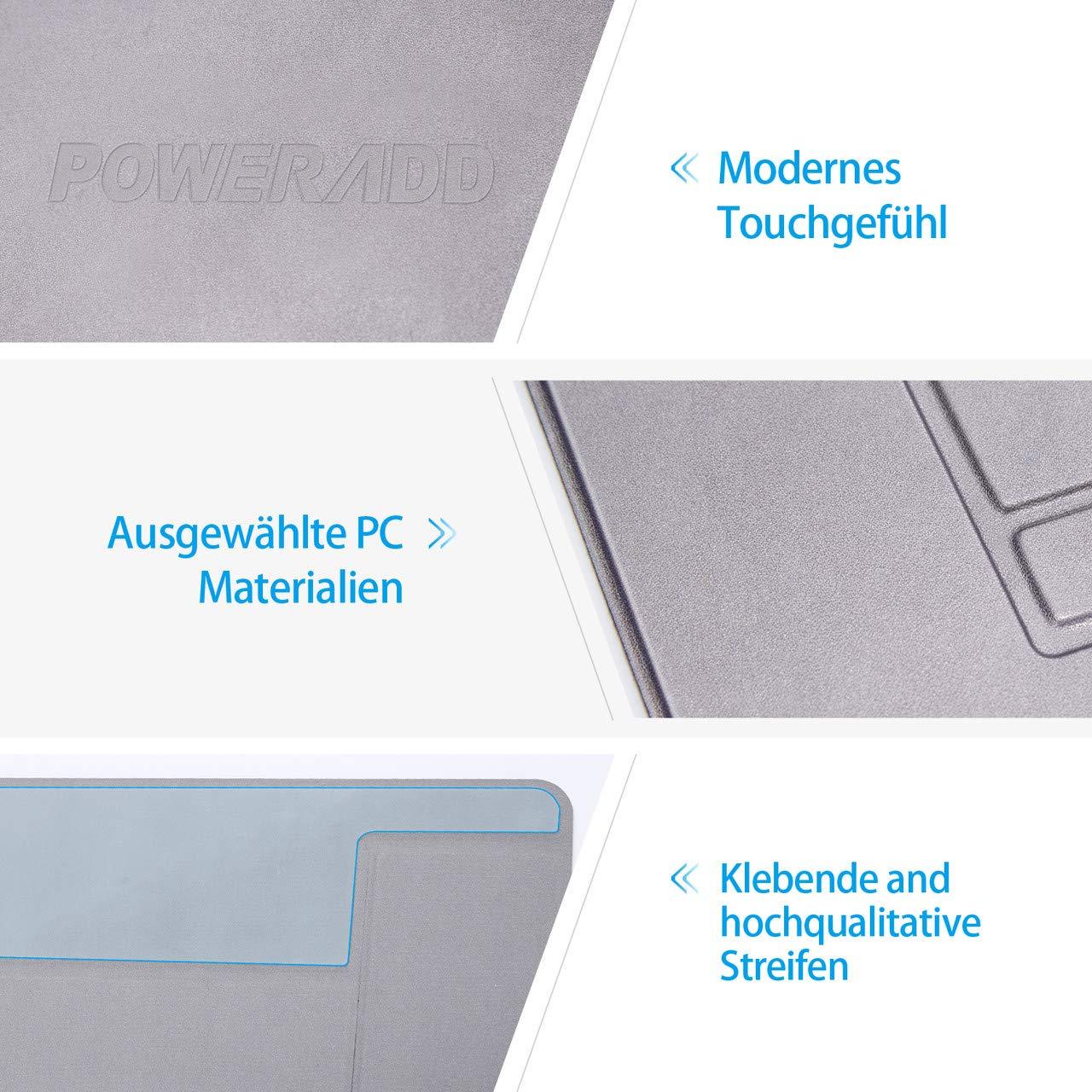 POWERADD unsichtbarer Laptopständer Invisible Notebook Ständer verstellbar, Tragfähigkeit bis 10kg, ideal für unterwegs, grau