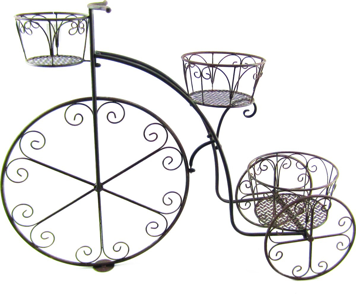 Terra Verde Home Bicycle Plant Stand, Brown