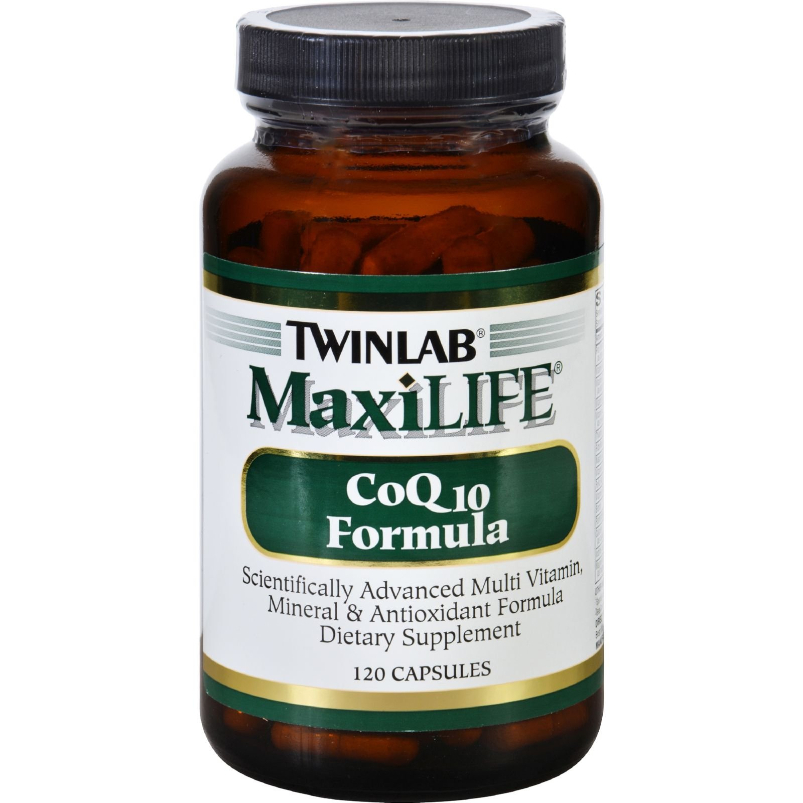 Twinlab MaxiLIFE CoQ10 Formula - Multi Vitamin, Mineral and Antioxidant Formula - 120 Capsules (Pack of 3)